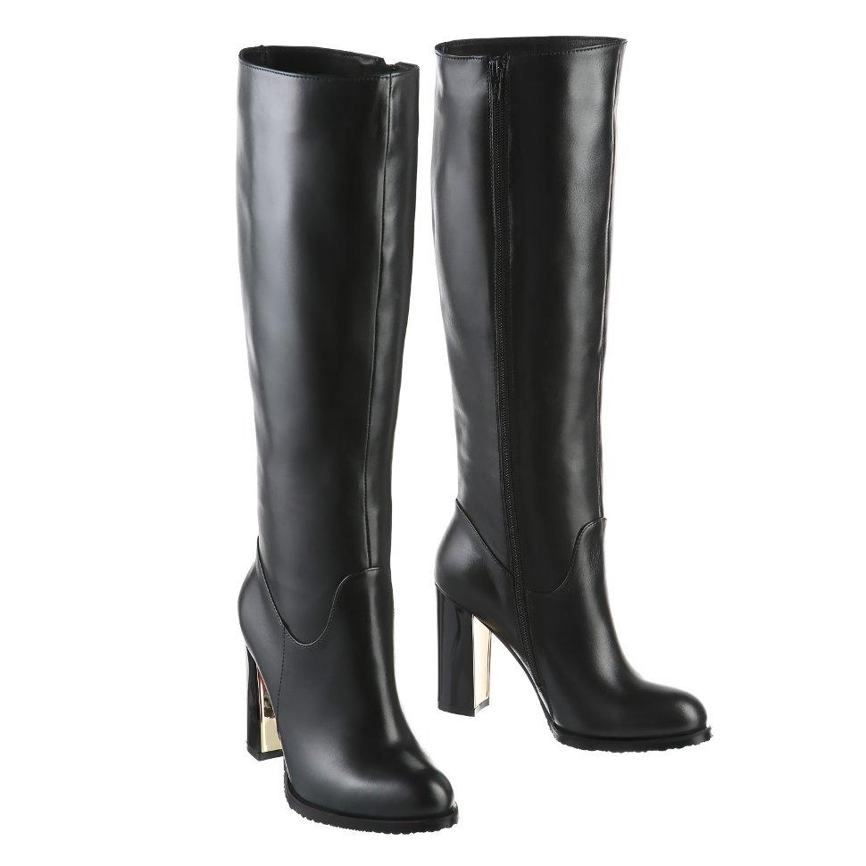 be5213a56f68 Прямые сапоги на высоком каблуке. Модель 1225 н евро (зима)