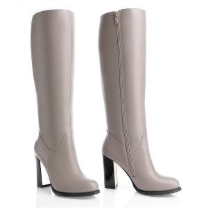 b839fdbf4aac Бежевые сапоги на высоком каблуке. Модель 1225 н евро какао (зима) ...