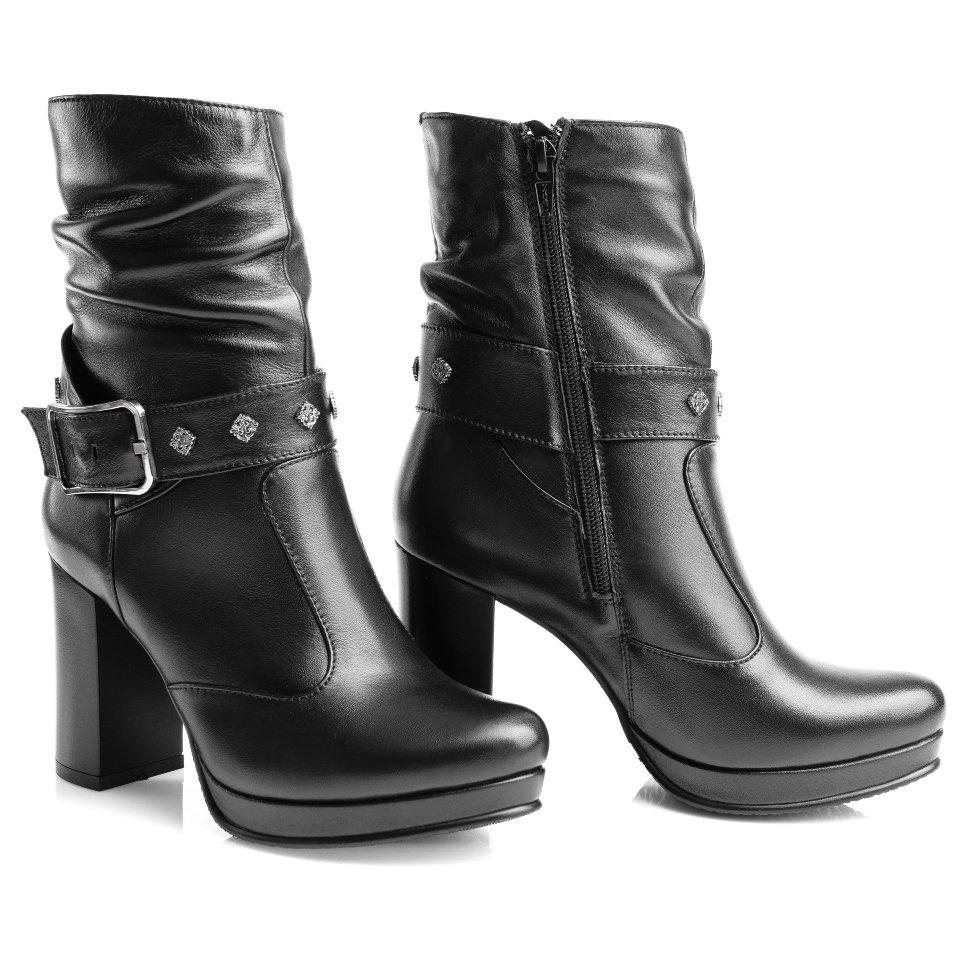 4714015594f8 Зимние ботинки на широком каблуке. Модель 3189 н (зима)