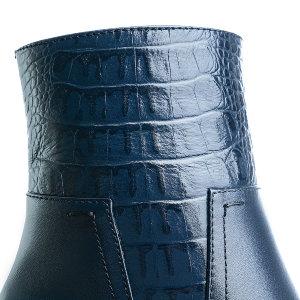 3201 б син+син кайман - Синие ботинки на большую полноту · арт. e1151f77a49